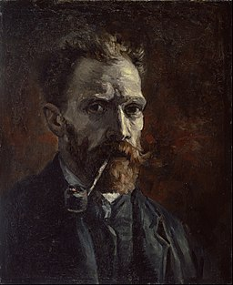 Vincent van Gogh - Self-portrait with pipe - Google Art Project