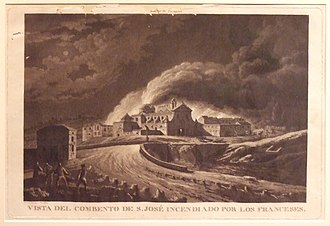 Fernando Brambila - The Convent of San José, Torched by the French