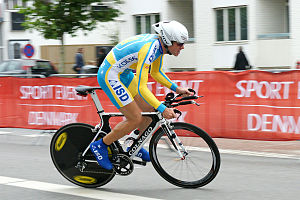 Vitaliy Popkov - Popkov during the time trial at the 2011 UCI Road World Championships
