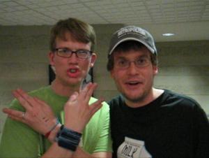 English: Hank and John Green in 2008