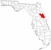 Location of Volusia County