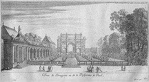 Château de Rueil - Image: Vue de l'orangerie et de la perspective de Ruel