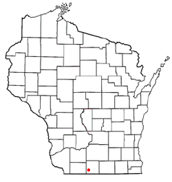 Location of Browntown, Wisconsin
