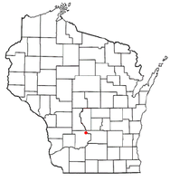 Location of Lake Delton, Wisconsin