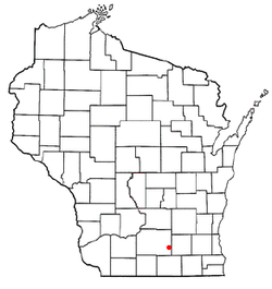 Location of Rockdale, Wisconsin