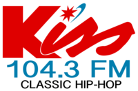 WJKS-FM 104.3 Kiss FM Logo (As Of June 15, 2015).png