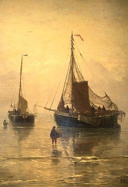 File:WLANL - Quistnix! - Visserijmuseum - Aankomst van de Vis - Hendrik Willem Mesdag (1875).jpg