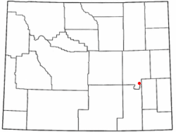 Location of Esterbrook, Wyoming