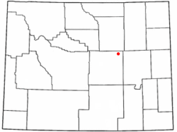 Location of Midwest, Wyoming