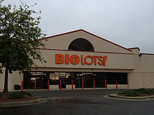 Big Lots - A Big Lots store in Raleigh, North Carolina, in a former Walmart.