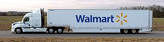 Walmart - Truck converted to run on biofuel in March 2009