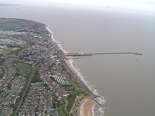 Walton-on-the-Naze Town in Essex, England