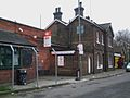 Wandsworth Common stn east entrance and old building.JPG