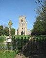 War Memorial and St Mary's church, Sporle - geograph.org.uk - 1270650.jpg