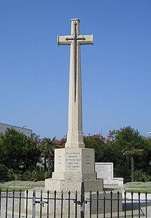 Gibraltar Cross of Sacrifice war memorial in Gibraltar