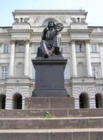 Copernicus, before the Staszic Palace (headquarters of the Polish Academy of Sciences), Warsaw.