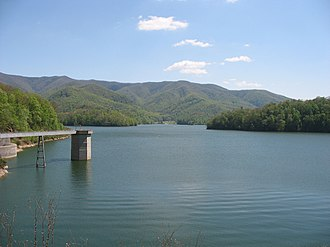 Cherokee National Forest - The Cherokee National Forest at Watauga Lake.