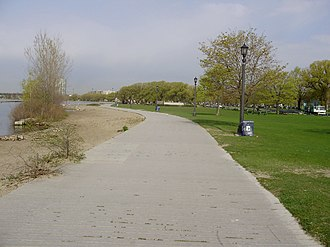 Waterfront Trail - The Waterfront Trail as it passes Budapest Park in Toronto