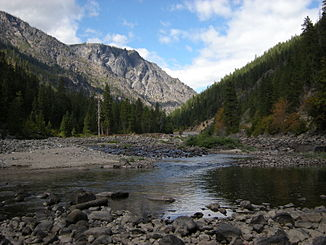 Wenatchee River westlich Leavenworth