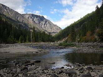 Wenatchee River - The Wenatchee River west of Leavenworth