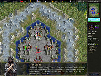 The Battle for Wesnoth - Campaign progression in Wesnoth includes cutscenes such as this, where the story is explained.