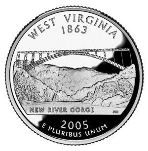 Environment of West Virginia - West Virginia state quarter