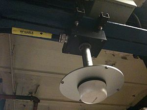 Transit Wireless - An indoor DAS antenna installed by Transit Wireless inside a New York City Subway station