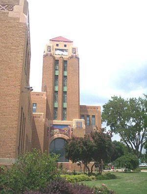 Wichita North High School - Image: Wichita High School North Tower 2009 06 10 1