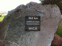 Wicie - geographical centre of the Polish coast