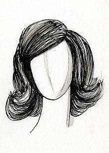 Disegno di una parrucca.