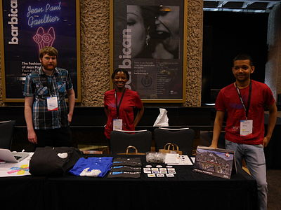 Wikimania 2014 Foundation shop volunteers 01.jpg