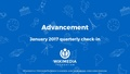 Wikimedia Foundation Advancement Q2 (Oct-Dec 2016) - Jan 2017 quarterly check-in.pdf