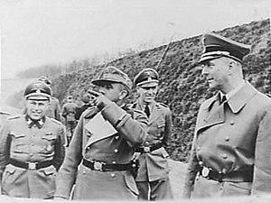 Wilhelm Harster - Image: Wilhelm Harster, Karl Maria Demelhuber, Erich Deppner and Hanns Albin Rauter