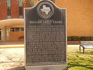 William Carey Crane - Crane historical marker in his namesake city and county, Crane, Texas