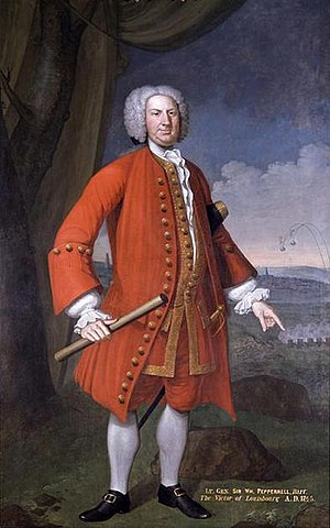 William Shirley - William Pepperrell, portrait by John Smibert