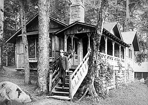 National Register of Historic Places listings in Hamilton County, New York - Image: William West Durant at Camp Pine Knot