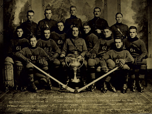 Winnipeg 61st Battalion - Winnipeg 61st Battalion with the Allan Cup in 1916.