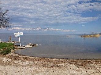 Lake Winnipegosis - Lake Winnipegosis from Winnipegosis Beach