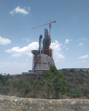 Nathdwara - World's Tallest Shiva Statue in construction phase at Nathdwara, Rajasthan