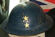 World War II Royal Navy rear admiral's steel helmet