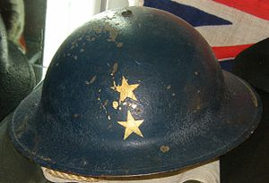 Rear admiral (Royal Navy) - Image: World War II Royal Navy rear admiral's steel helmet