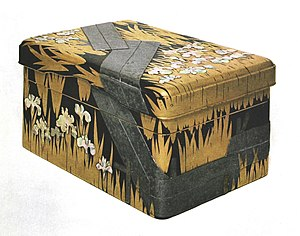 Japanese lacquerware - Writing lacquer box by Ogata Kōrin, Edo period (National Treasure)