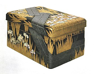 Japanese lacquerware - Writing lacquer box by Ogata Kōrin, Edo period (National Treasure)