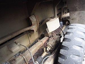"H-drive - Stub axle worm box and driveshafts of YA-328 ""Dikke Daf""."