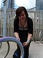 Yarn bomb - bike stand (5521490118).jpg