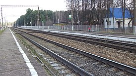Yastrebki railway platform (common view from south-west).JPG
