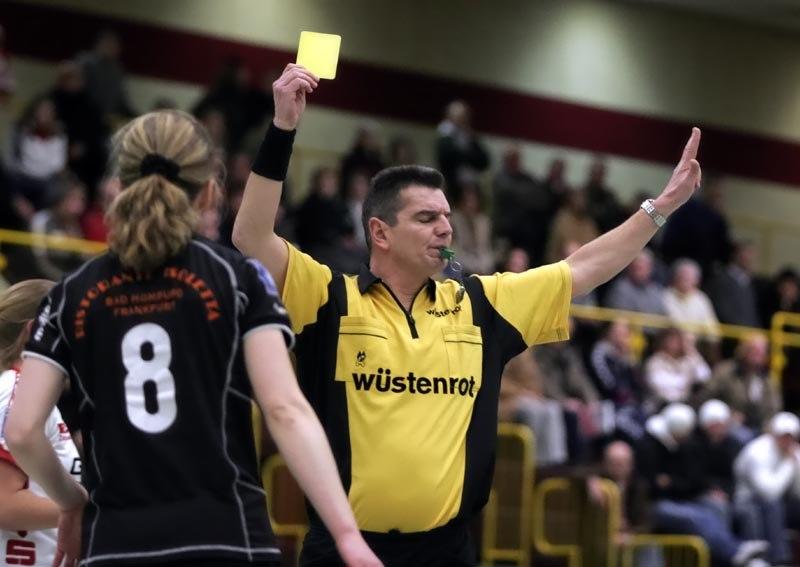 Yellow card handball