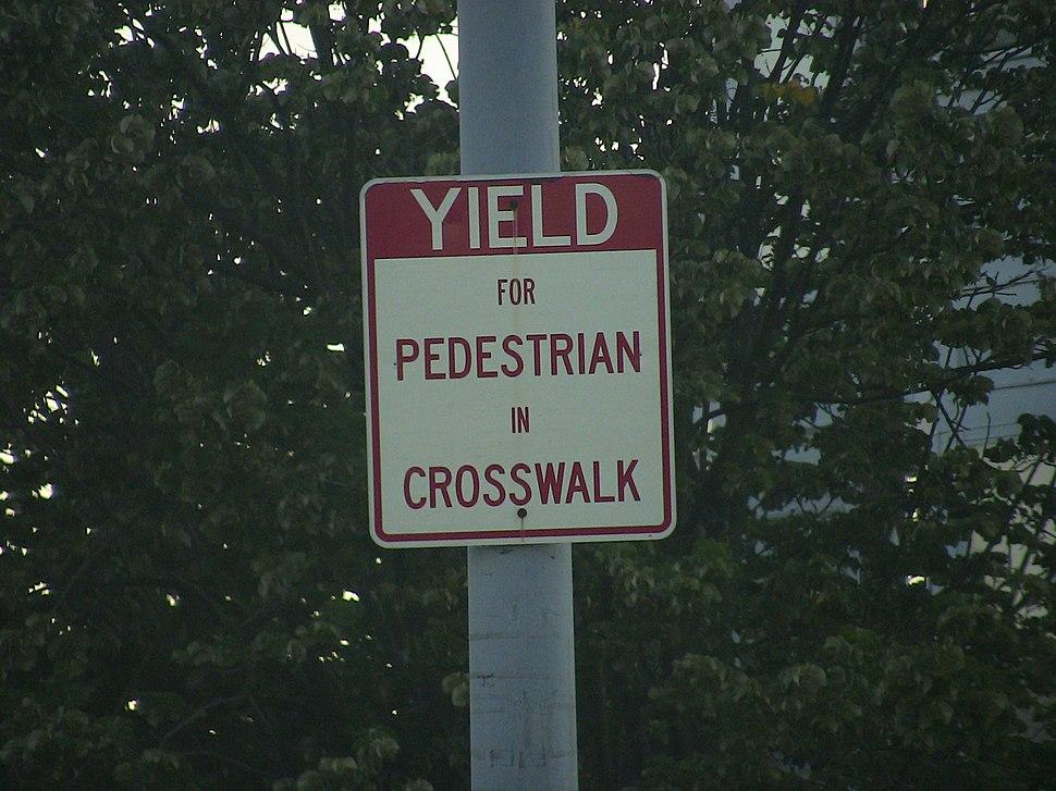 Yield for People in Crosswalk