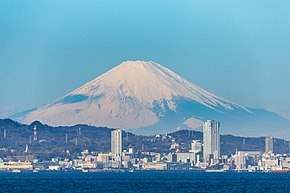 Yokosuka Japan and Mt. Fuji (横須賀と富士山の景).jpg