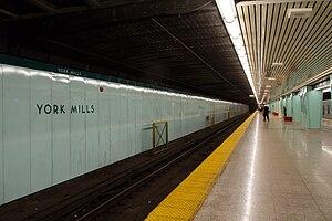 York Mills station - Image: York Mills Station Platform